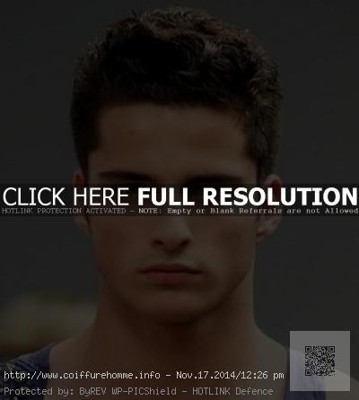coupe de cheveux homme visage rond 30 ans