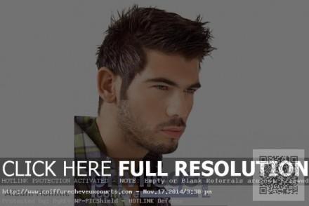 coupe de cheveux homme visage rond 40 ans